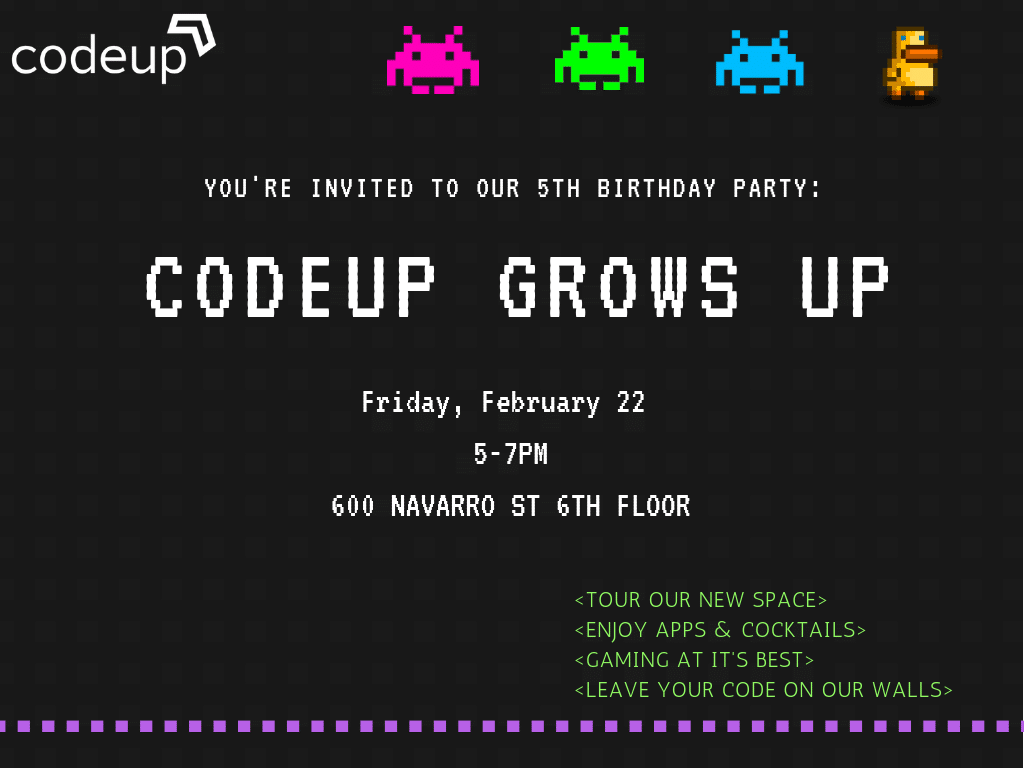 Codeup Grows Up | 5th Birthday Party