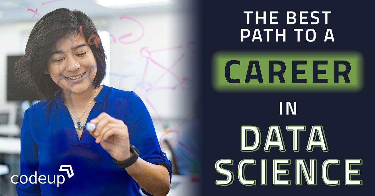 "Blog header image ""best path to a career in data science"""