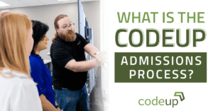 Codeup's application process has multiple steps and can take one to two months so apply today!