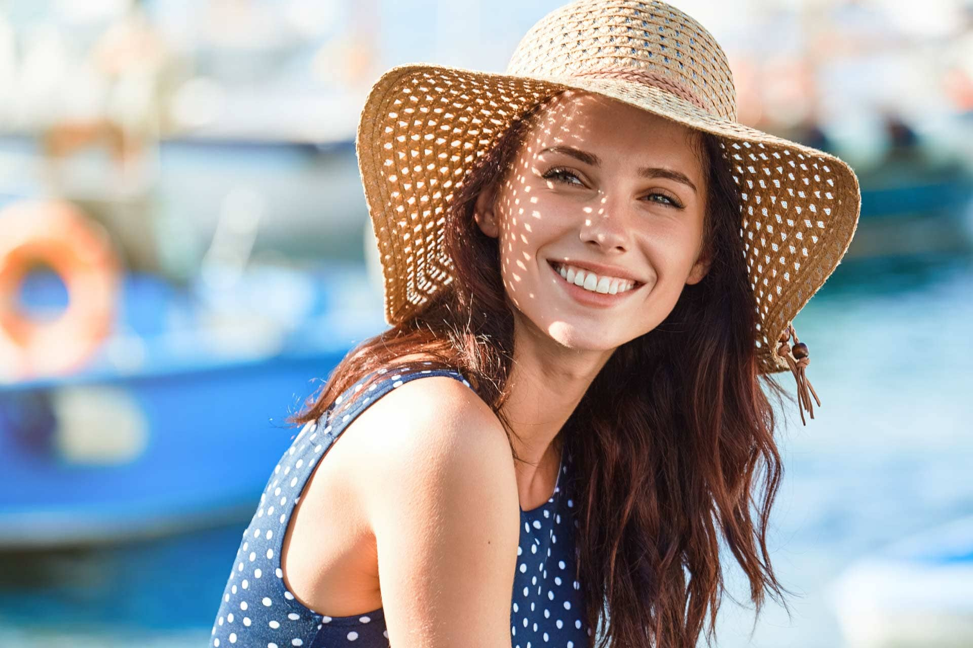happy woman with great smile