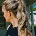 Model with ponytail braid