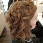 Model with braided hair
