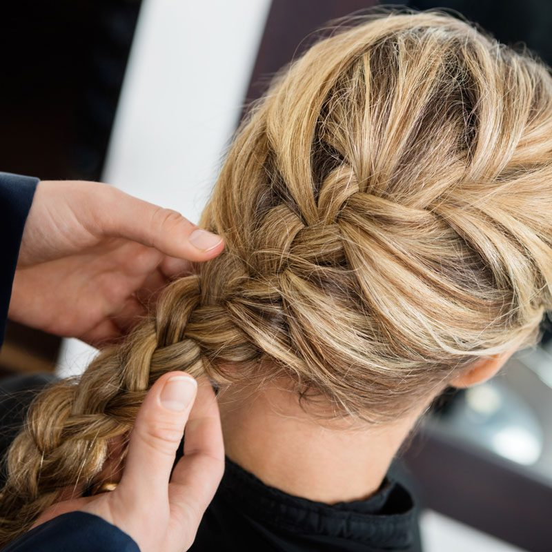 Model with messy braid