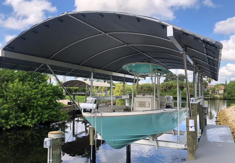 verandah beam boat lift cover