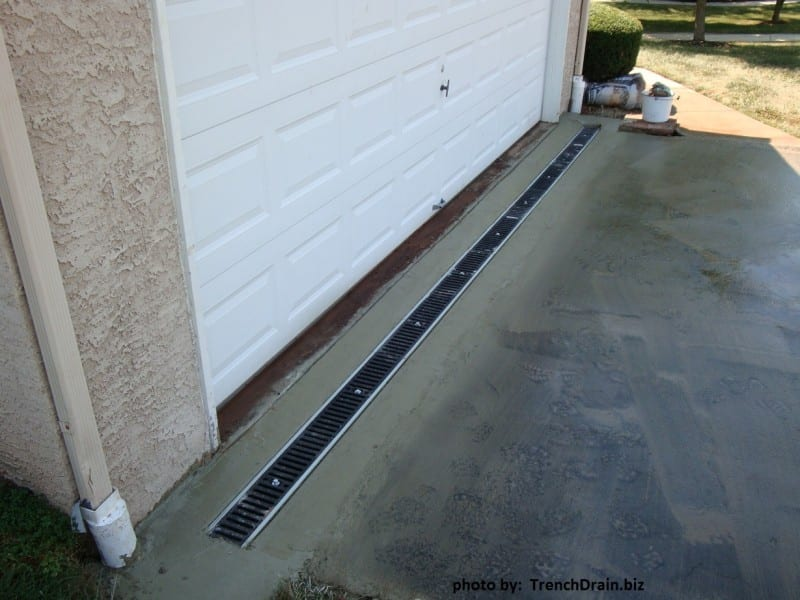 driveway trench drain, polycast trench drain, polycast drain, water solutions for driveway, Polycast 600