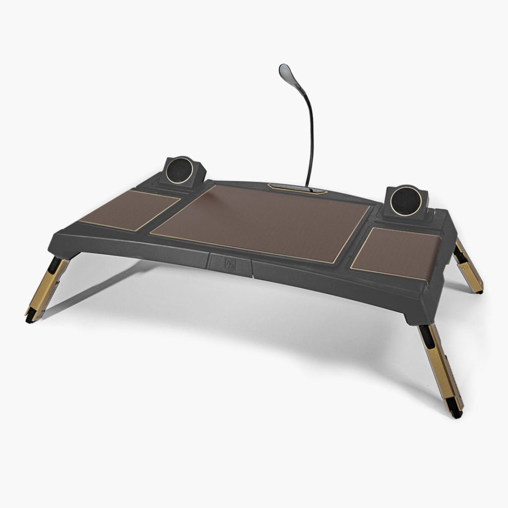 Lagio luxury lapdesk brown leather