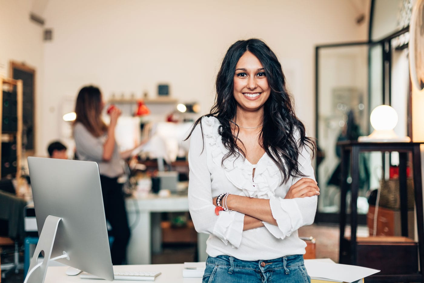 Photo of woman at desk