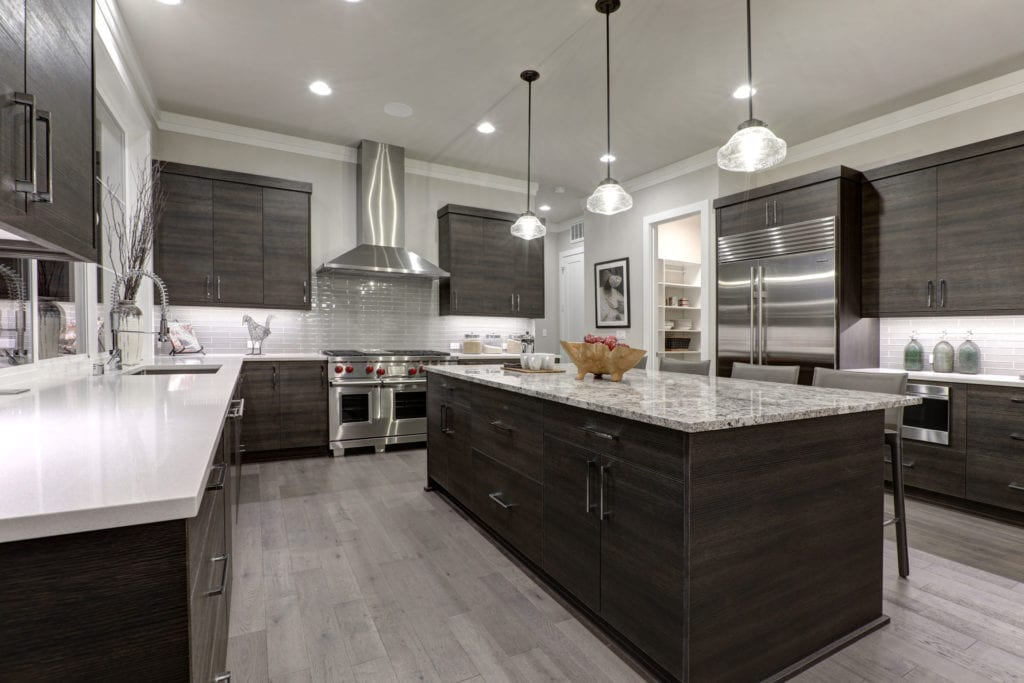 sleek modern kitchen remodel