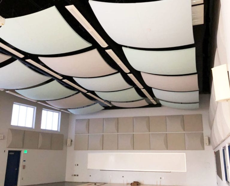 Interior Stretch Fabric on ceiling by Statewide
