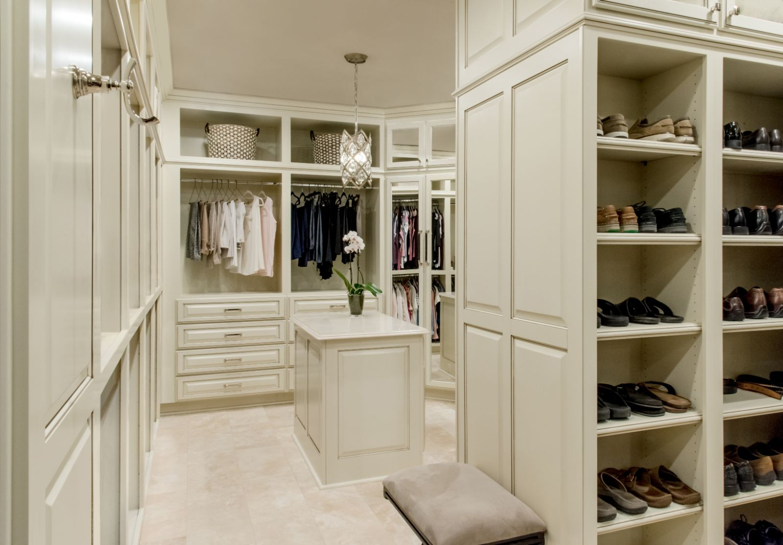 Cowen Special Projects closet remodeling with with cabinets and organized spaces