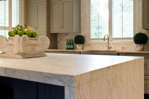 Penner Kitchen Renovation with marble counter top, and large kitchen island