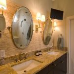 Pierce Bathroom Renovation with double vanity and oval mirrors