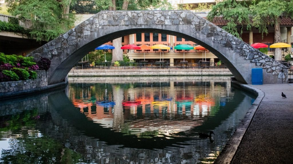 Arched bridge over the River Walk