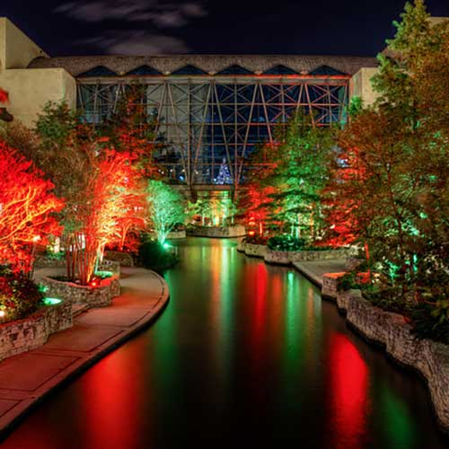 Convention Center Christmas lights