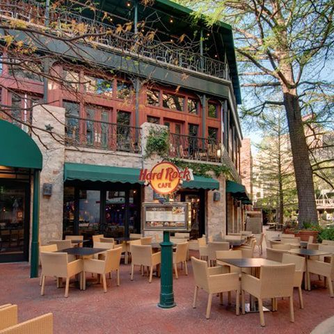 Hard Rock Cafe patio on the River Walk