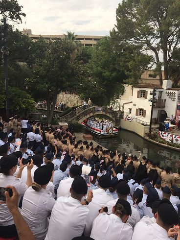 Armed Forces River Parade at the Arneson River Theatre