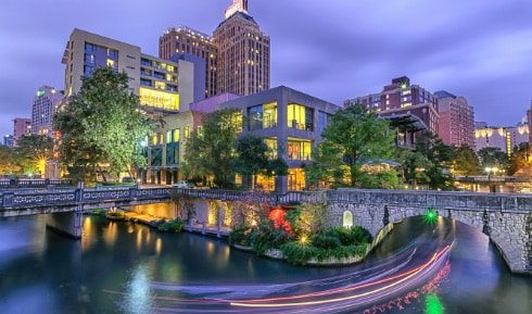 Photo of San Antonio River Walk at night