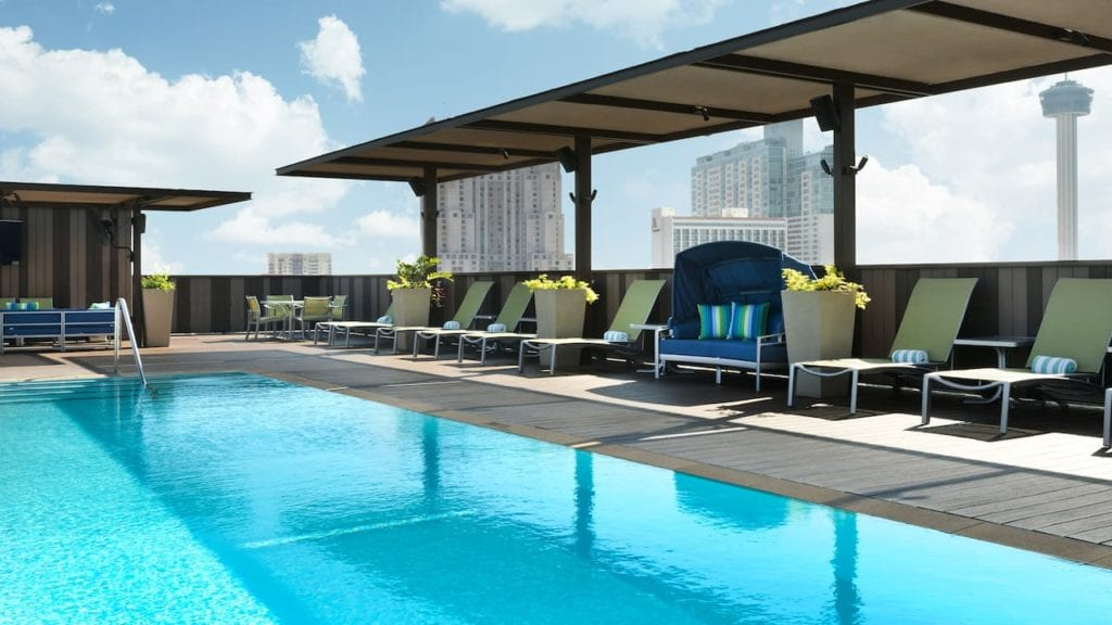 Rooftop pool at the Hyatt Regency San Antonio