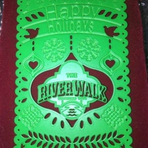 "River Walk ""Happy Holidays"" papel picado ornament"