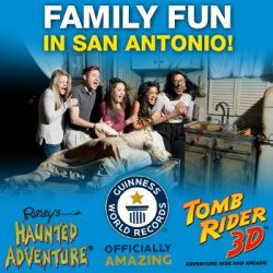 Family fun in San Antonio! Ripley's Haunted Adventure, Guinness World Records, Tomb Rider 3D