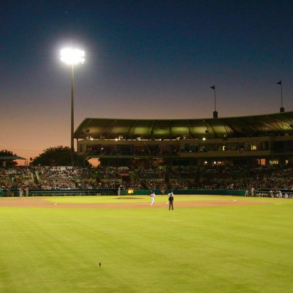 Wolff Stadium at night