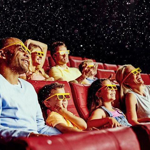 People enjoying a 4D movie