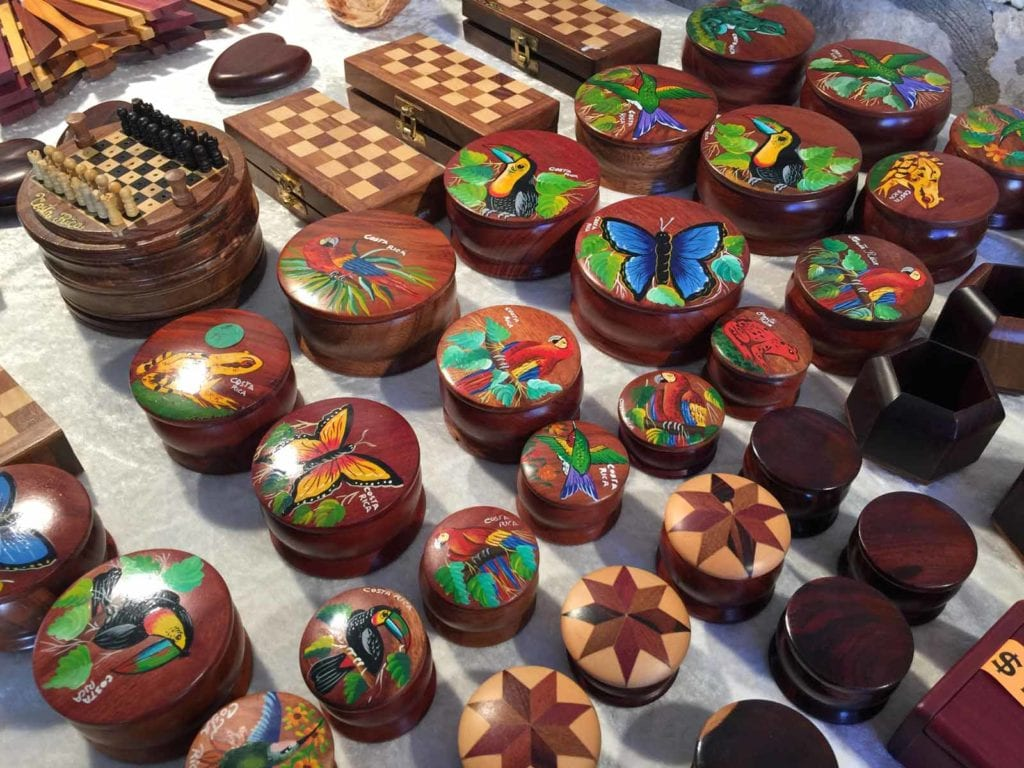 Wooden boxes at the Fourth of July Artisan Show