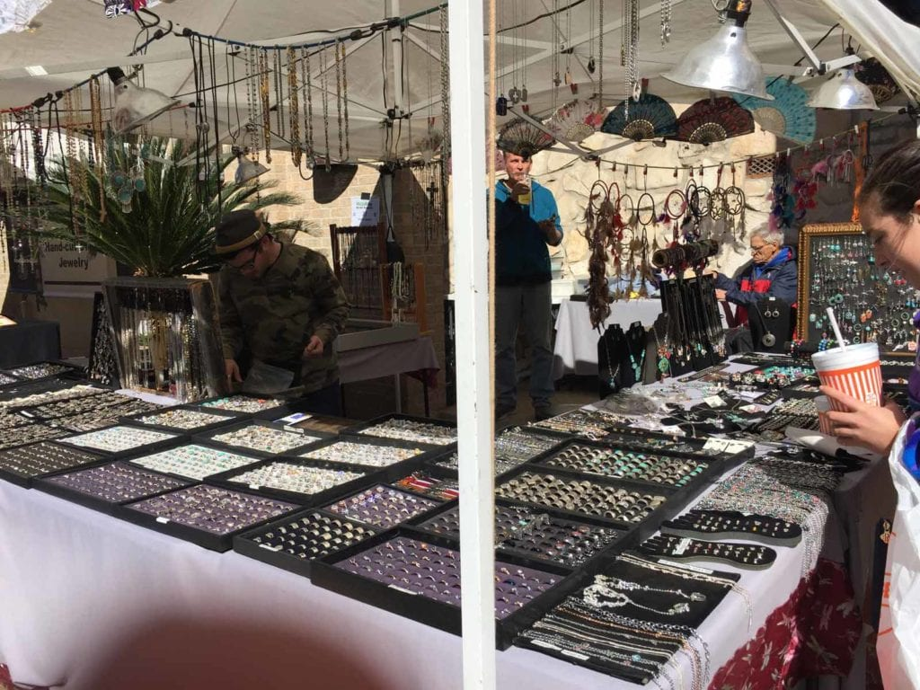 Jewelry at the Fourth of July Artisan Show