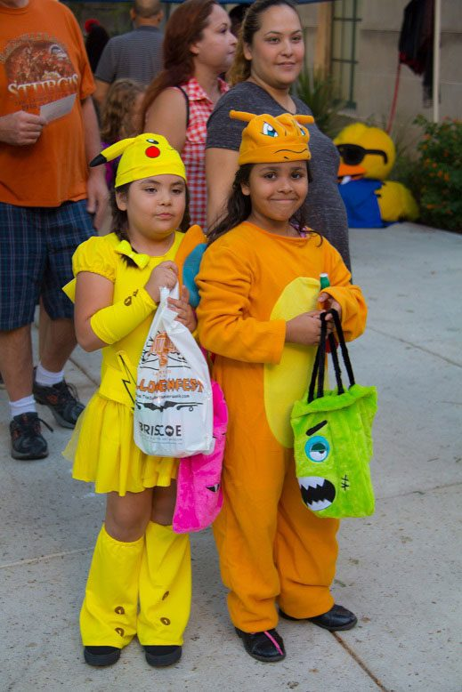 Girls dressed as Pokemon as Haunted River, Jr.