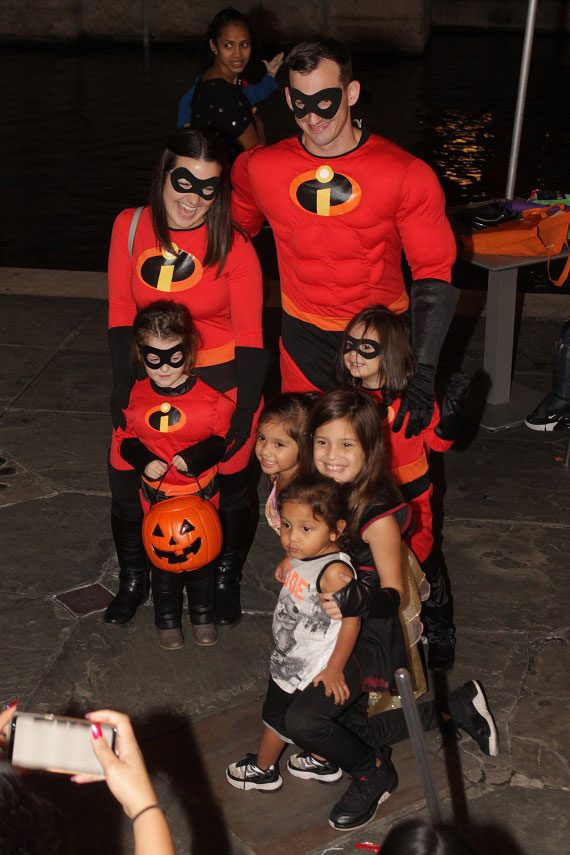 Family dressed as The Incredibles for Haunted River, Jr.