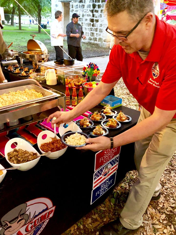 Catered food from Bubba Gump Shrimp Co. at Taste at the Tower