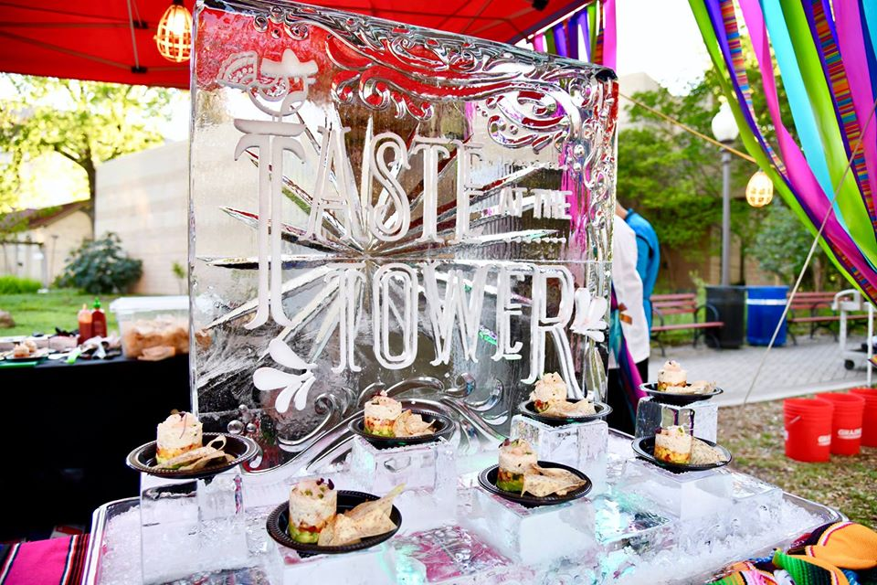 Taste at the Tower ice sculpture