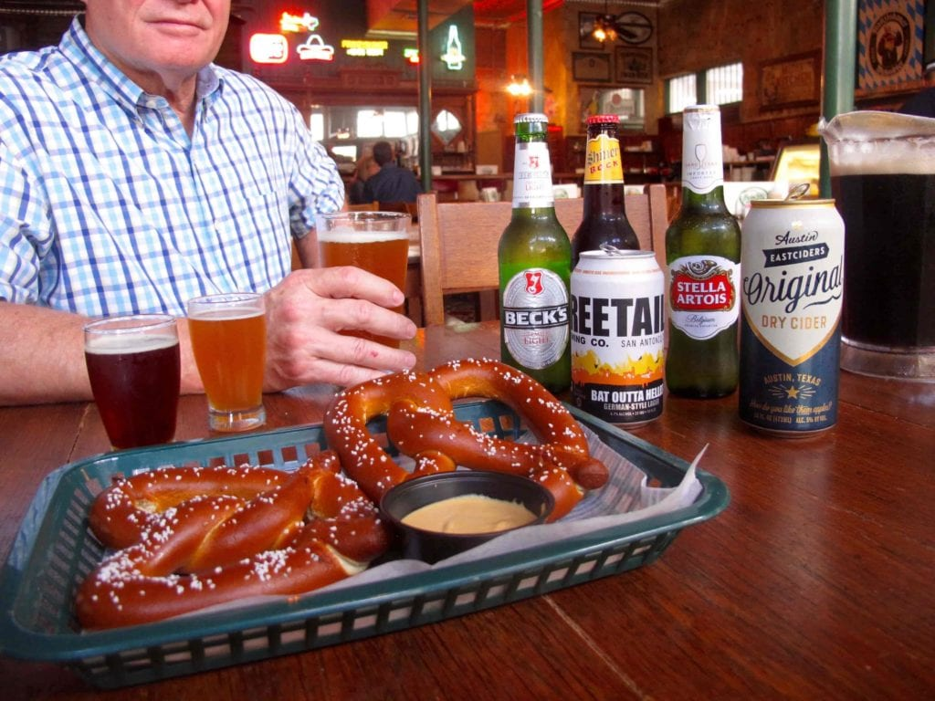 Pretzels and beers from Schilo's