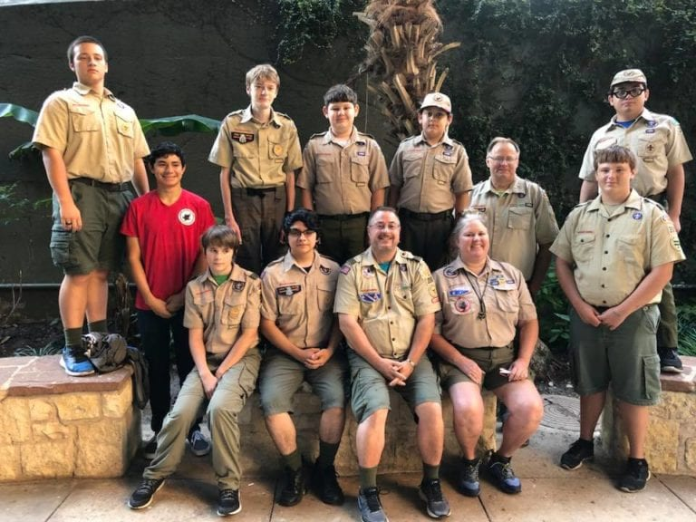 Boy scouts on the River Walk