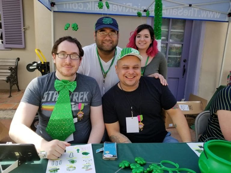 Volunteers on St. Patrick's Day
