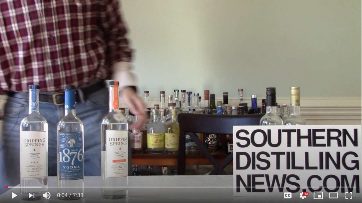 Southern Distilling News Video - Dripping Springs Vodka Review