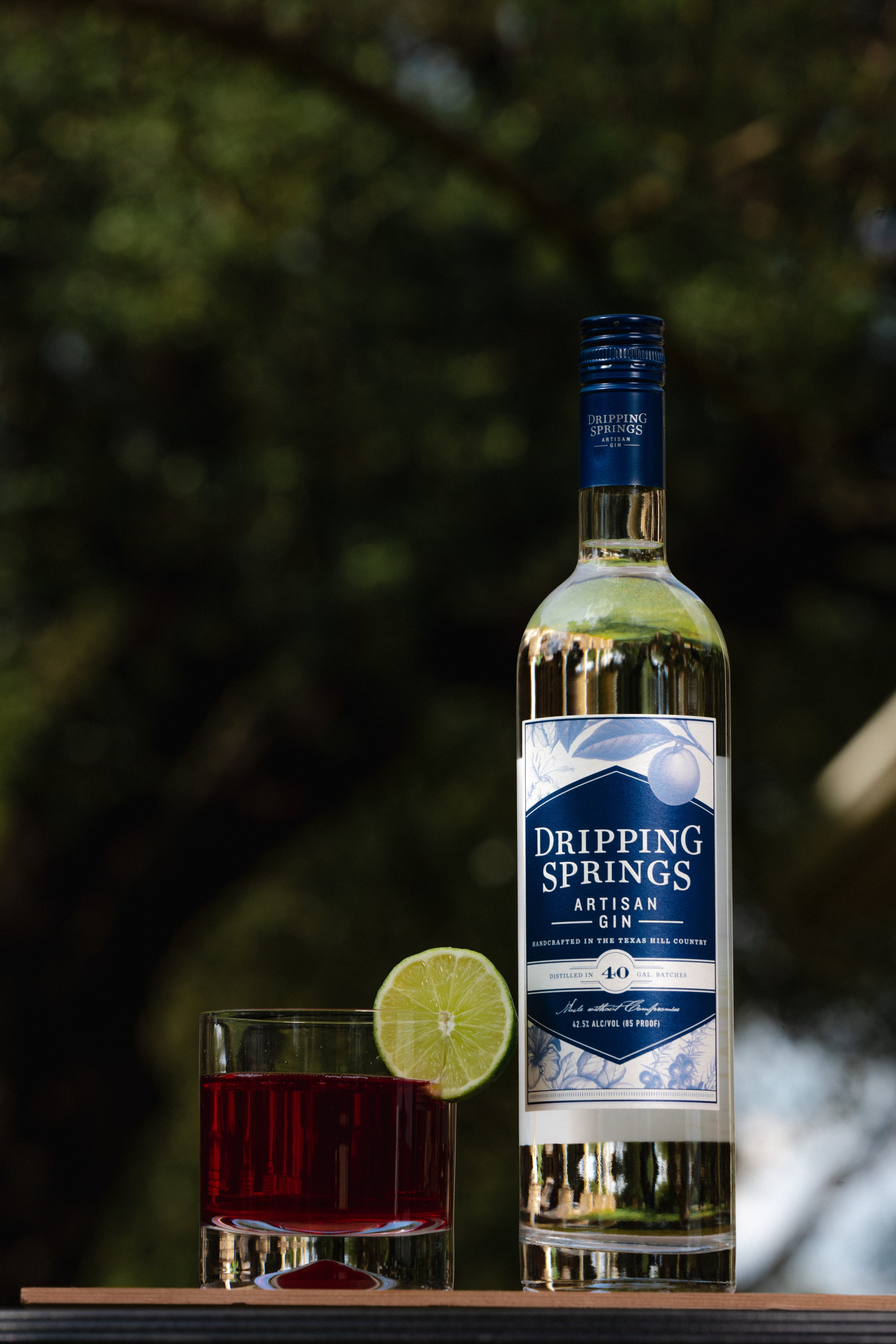 The Rose the Riveter recipe features our Dripping Springs Artisan Gin
