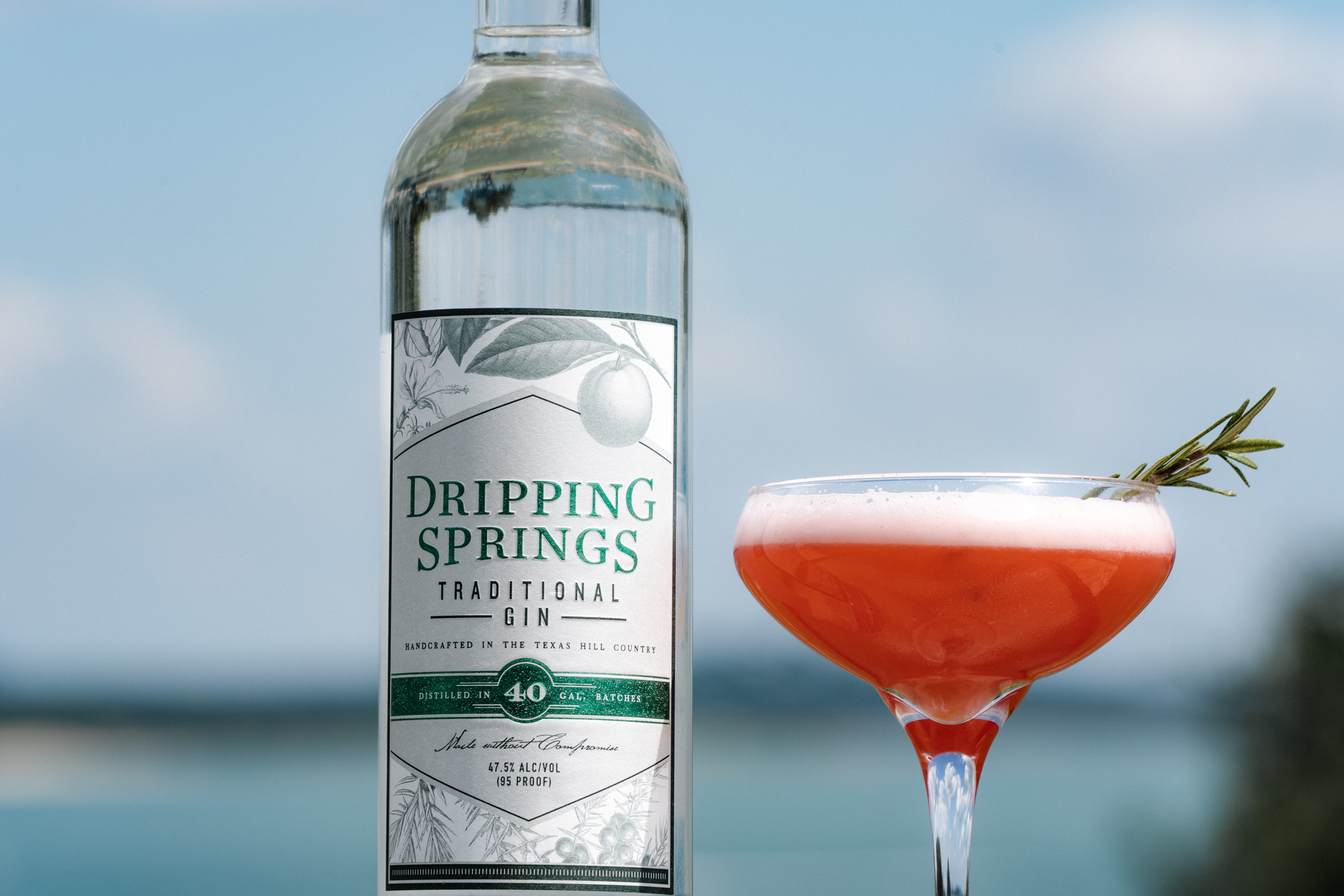 Dripping Springs Traditional Gin featured in the Snowmelt Sour recipe