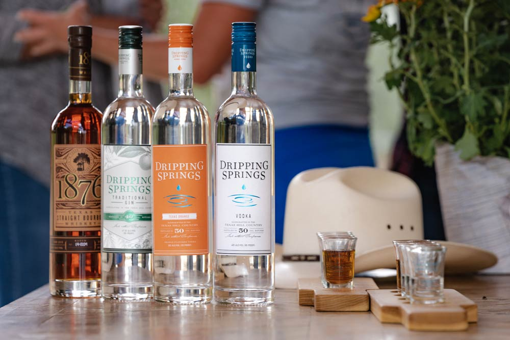 Dripping Springs Distilling all spirits
