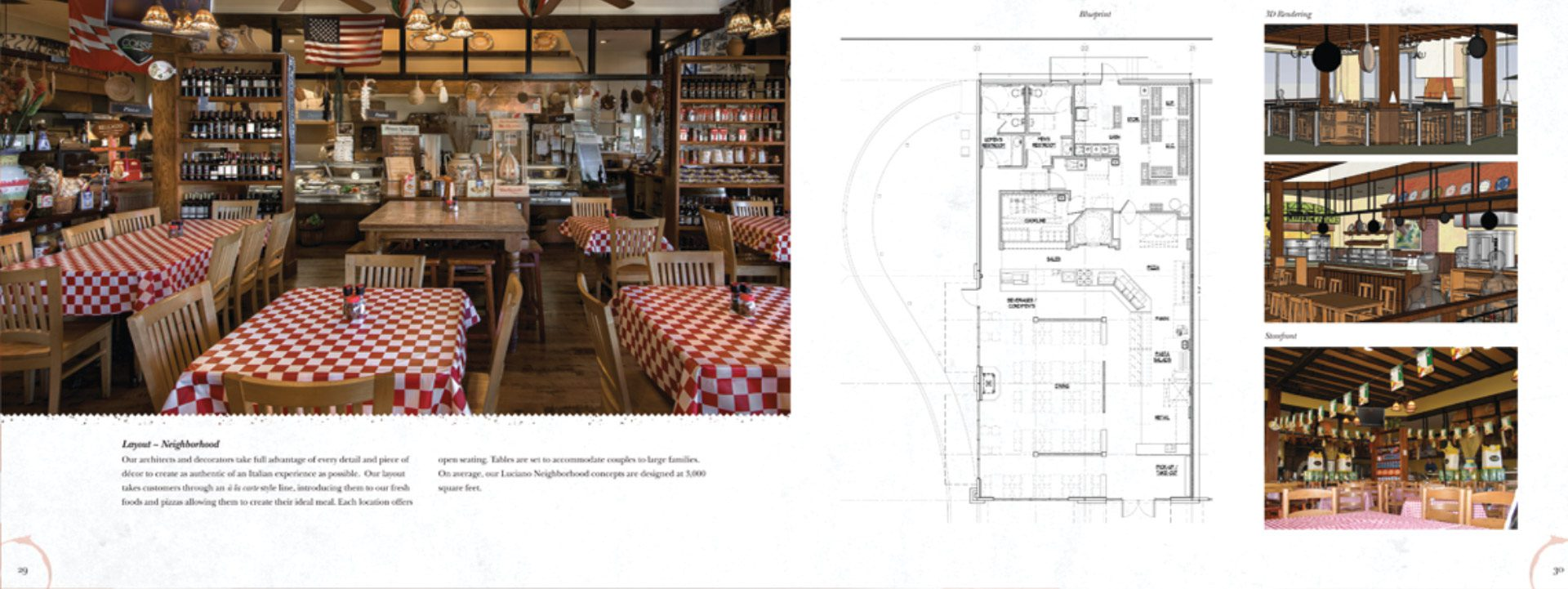 designed to show restaurant pictures