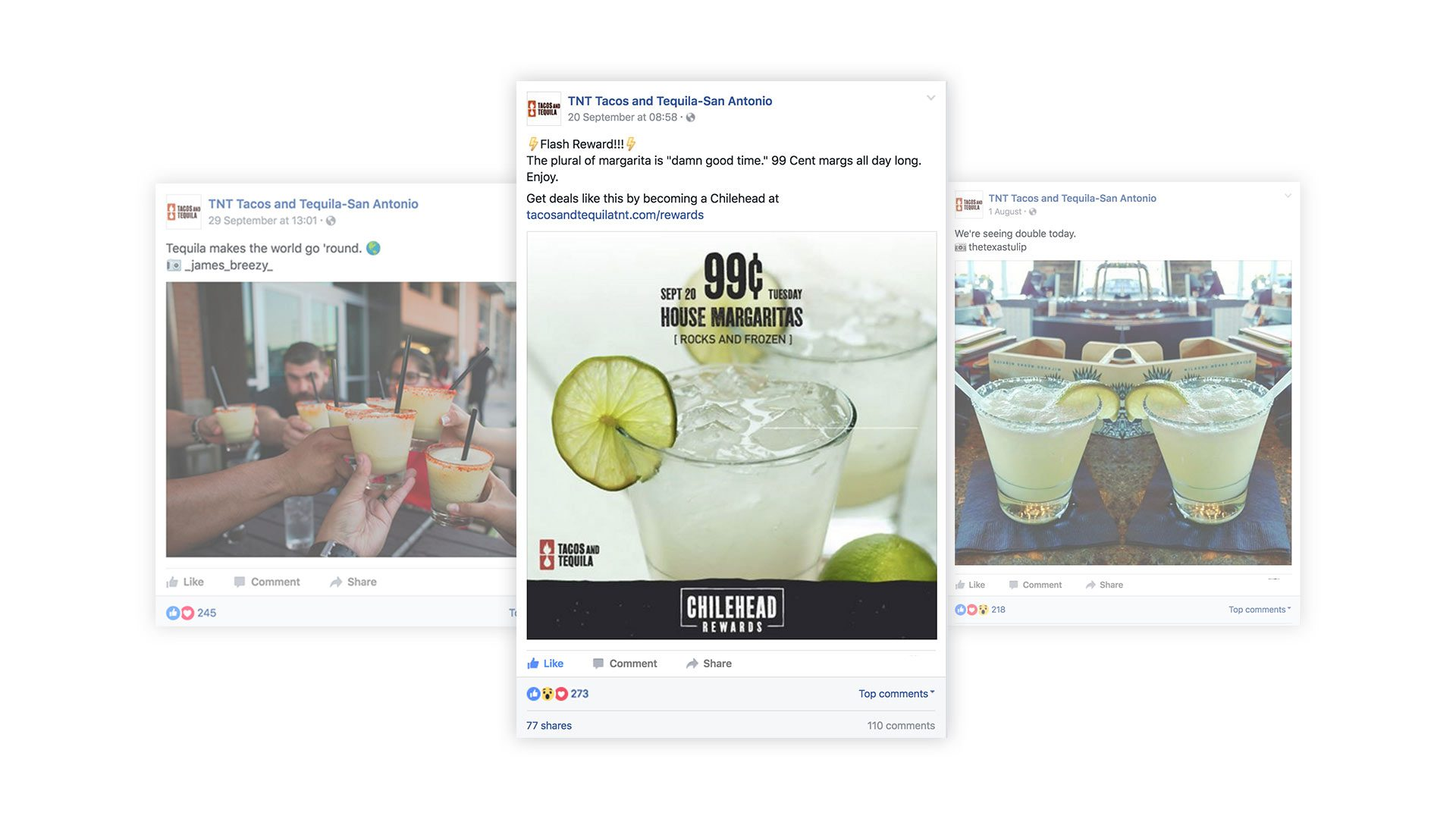 social media for tacos and tequilla