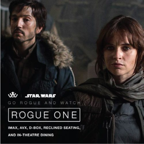 Rogue One Poster for Santikos Movie Theatres