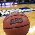 Closeup on Basketball for March Madness