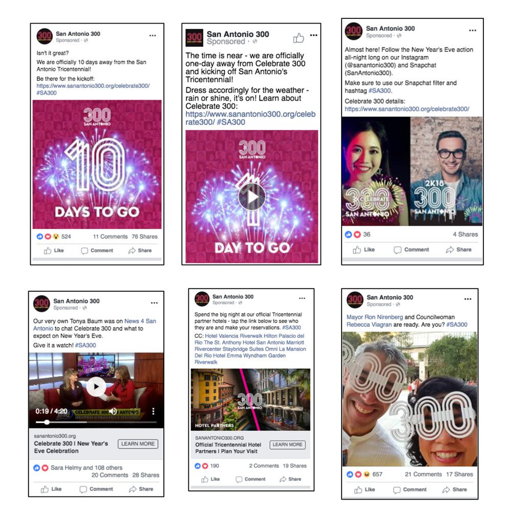 SA San Antonio 300 Tricentennial Social Media | Tribu Digital Marketing