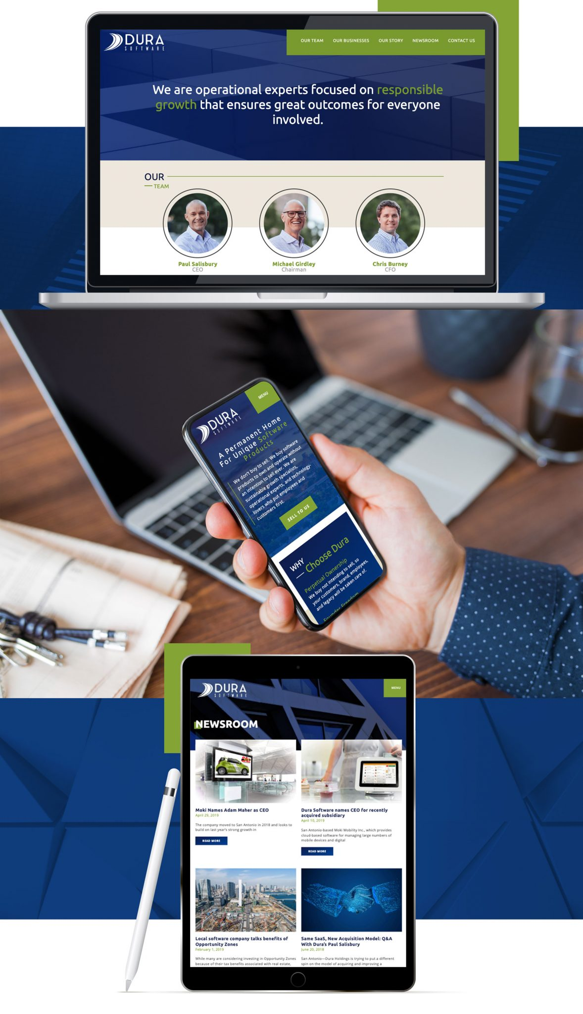 Dura Website Mockup | Tribu Digital Marketing