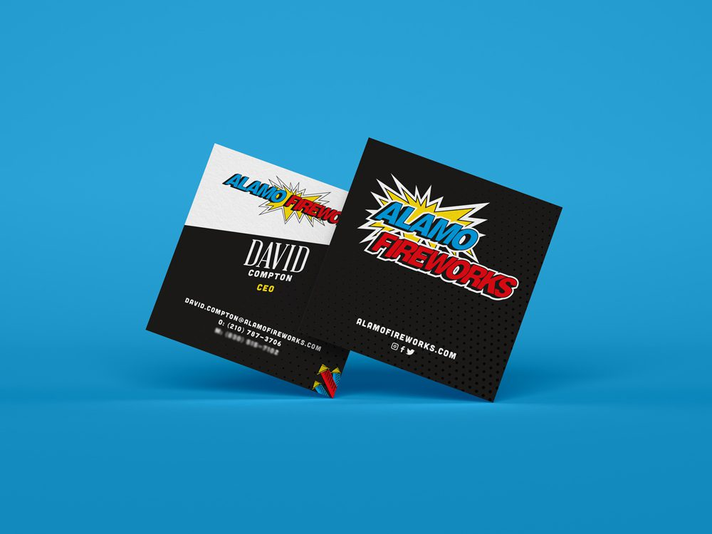 Alamo Fireworks Business Cards - Branding | Tribu Digital Marketing