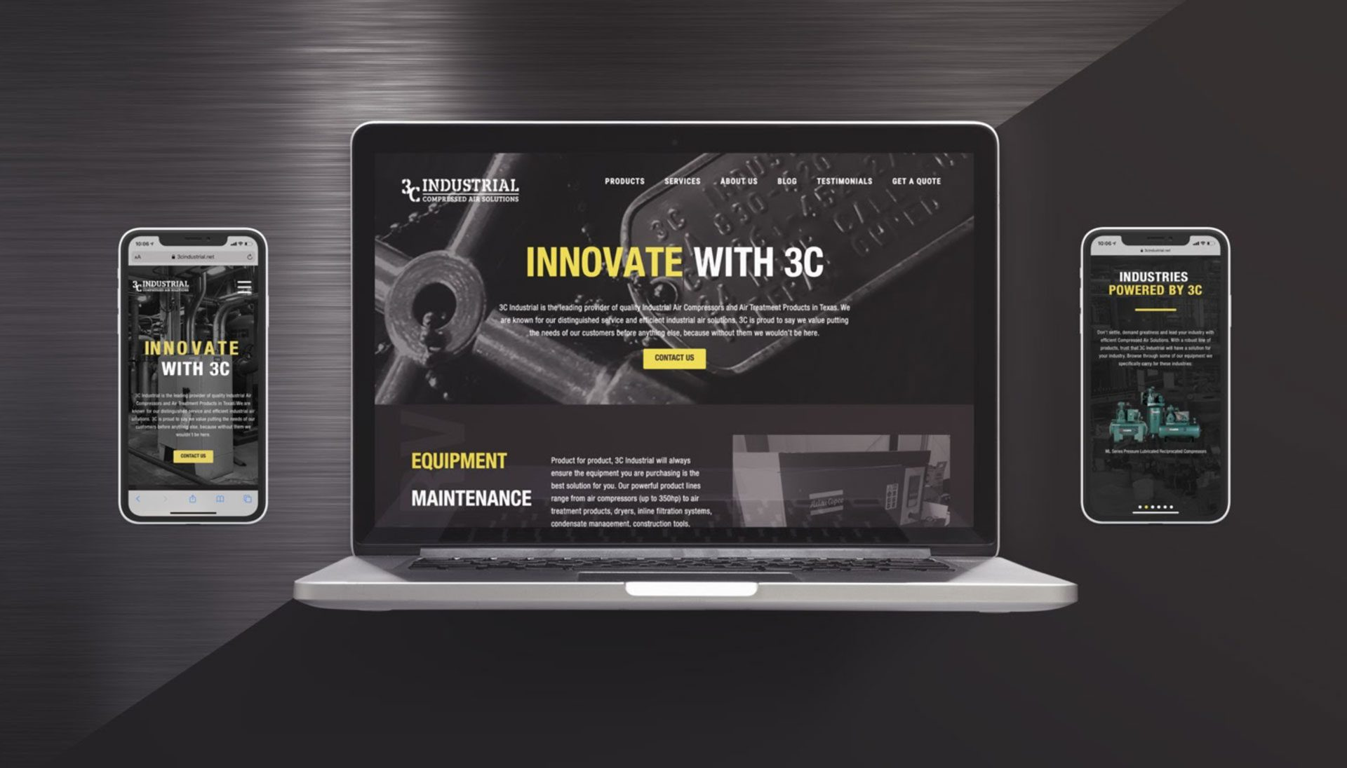 website design for 3c industrial