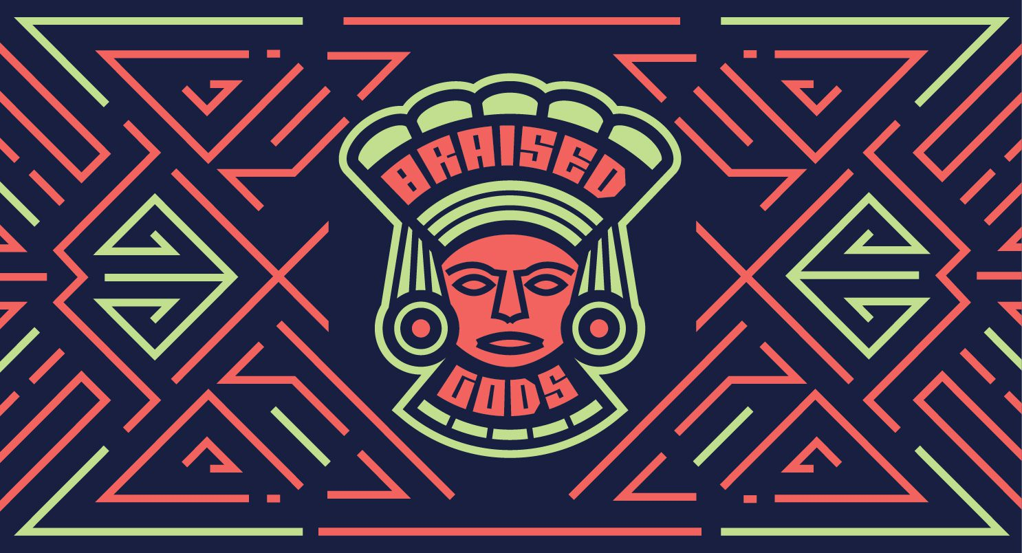 Logo Design for Braised Gods, an Oaxaca and Puebla Inspired Food Truck
