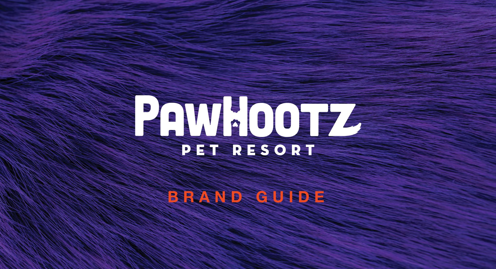 pawhootz pet resort brand guide design
