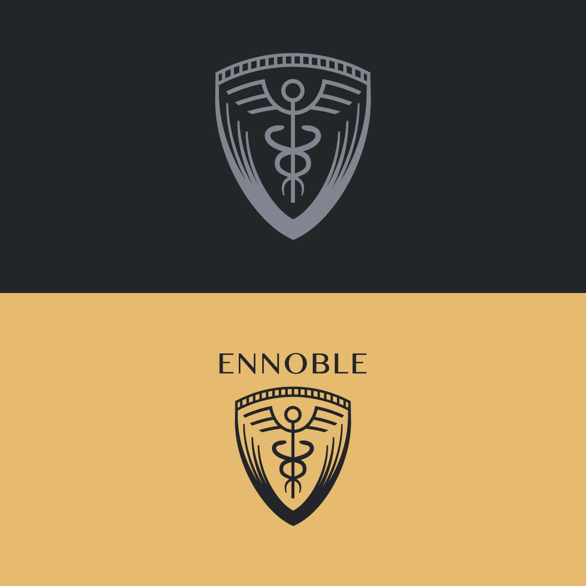 Ennoble logo in two colors
